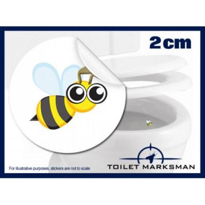 Bee Toilet Target Stickers 2cm