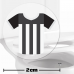 Black And White Football Shirt Toilet Target Stickers 2cm