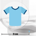 Sky Blue Football Shirt Toilet Target Stickers 2cm