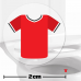 Red Football Shirt Toilet Target Stickers 2cm