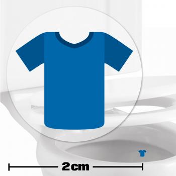 Blue Football Shirt Toilet Target Stickers 2cm