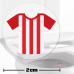 Red And White Football Shirt Toilet Target Stickers 2cm