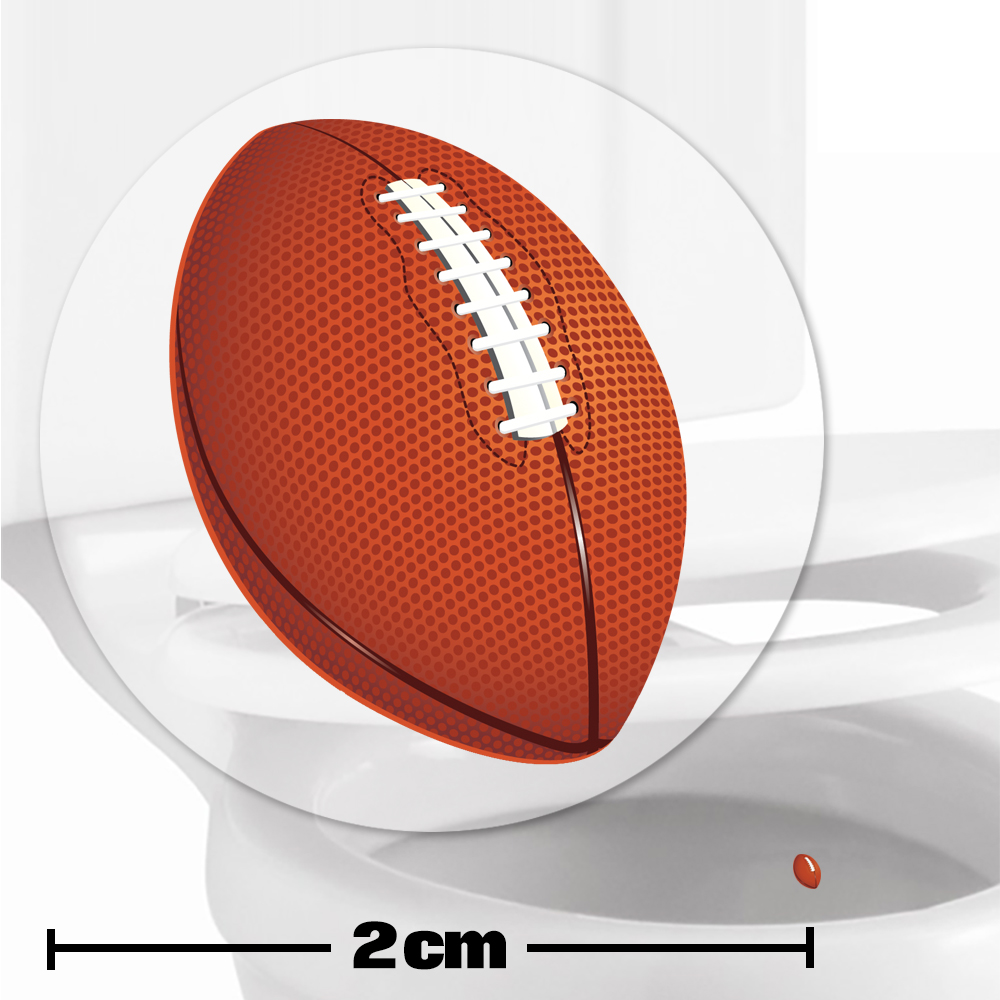 American Football Toilet Target Stickers 2cm
