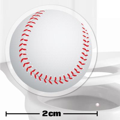 Baseball Toilet Target Stickers 2cm