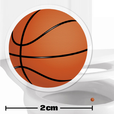 Basketball Toilet Target Stickers 2cm