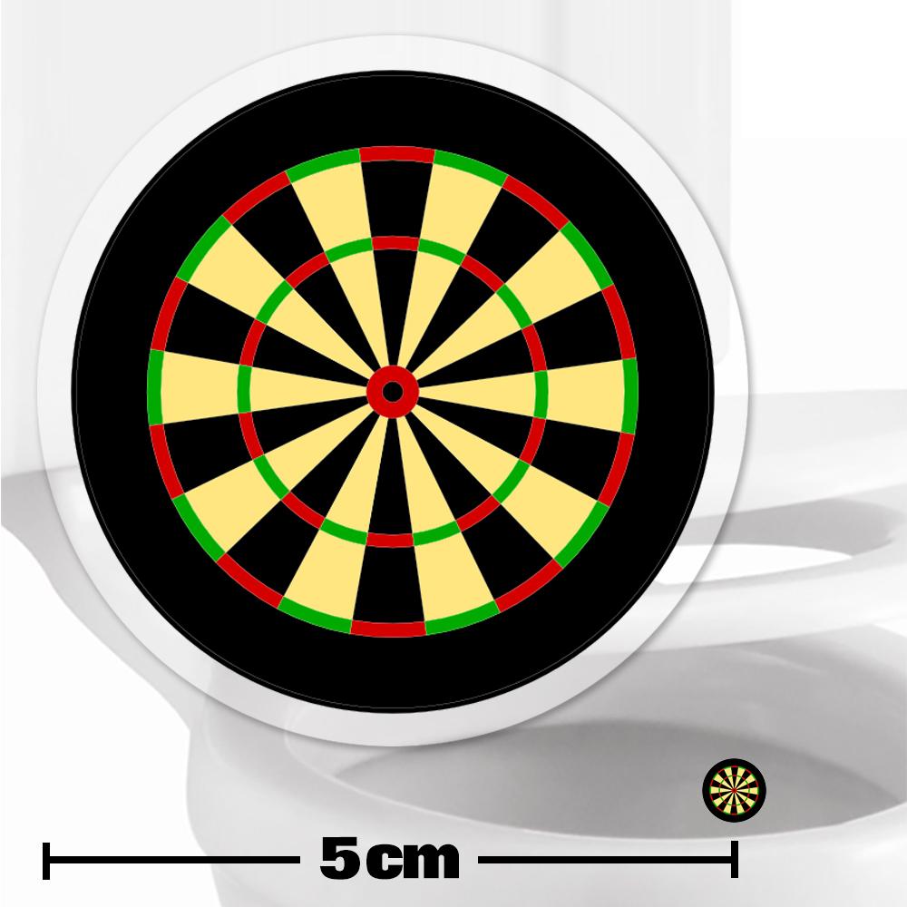 Dartboard Toilet Target Stickers 5cm