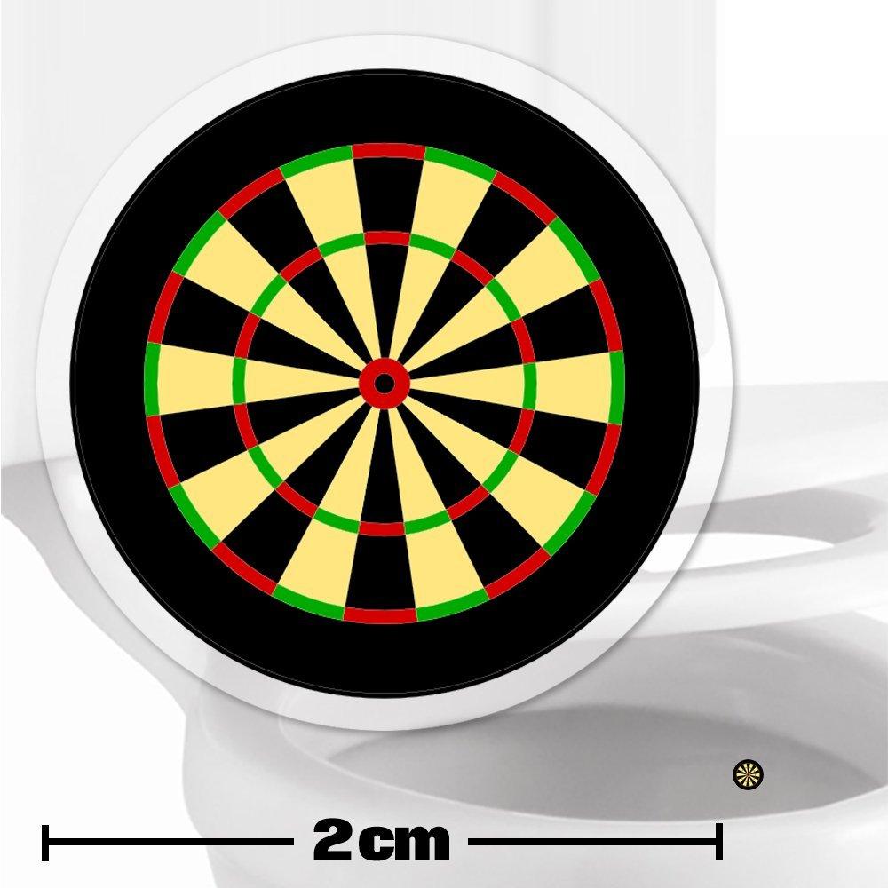 Dartboard Toilet Target Stickers 2cm