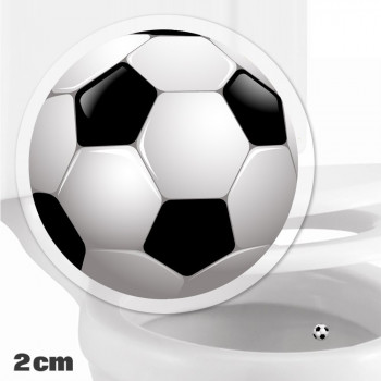 Football Toilet Target Stickers 2cm