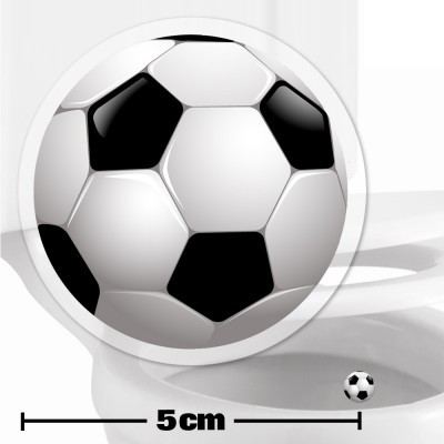 Football Toilet Target Stickers 5cm