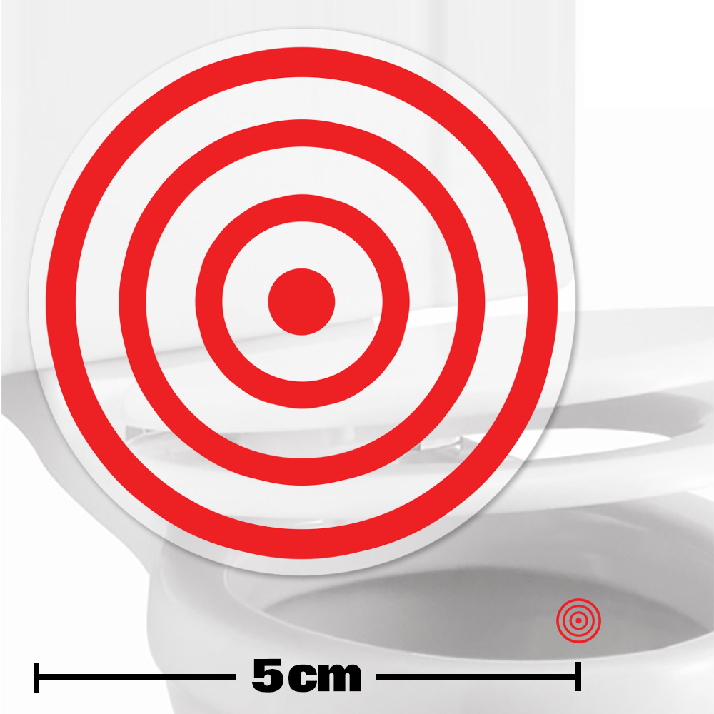 toilet target stickers 5cm. Black Bedroom Furniture Sets. Home Design Ideas