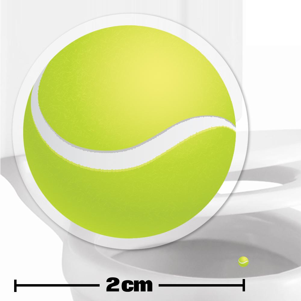 Tennis Ball Toilet Target Stickers 2cm