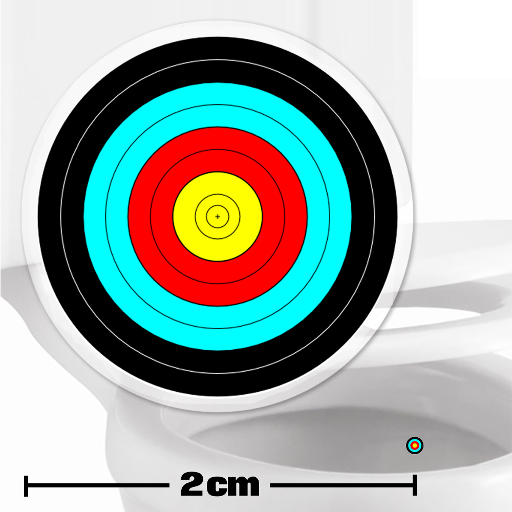 archery toilet target stickers 2cm. Black Bedroom Furniture Sets. Home Design Ideas