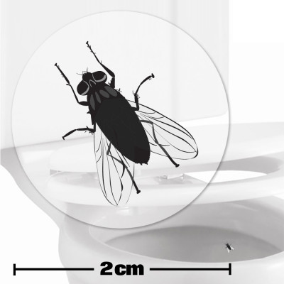 Fly Toilet Target Stickers 2cm