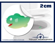 Fish Toilet Target Stickers