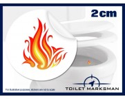 Flames Toilet Target Stickers