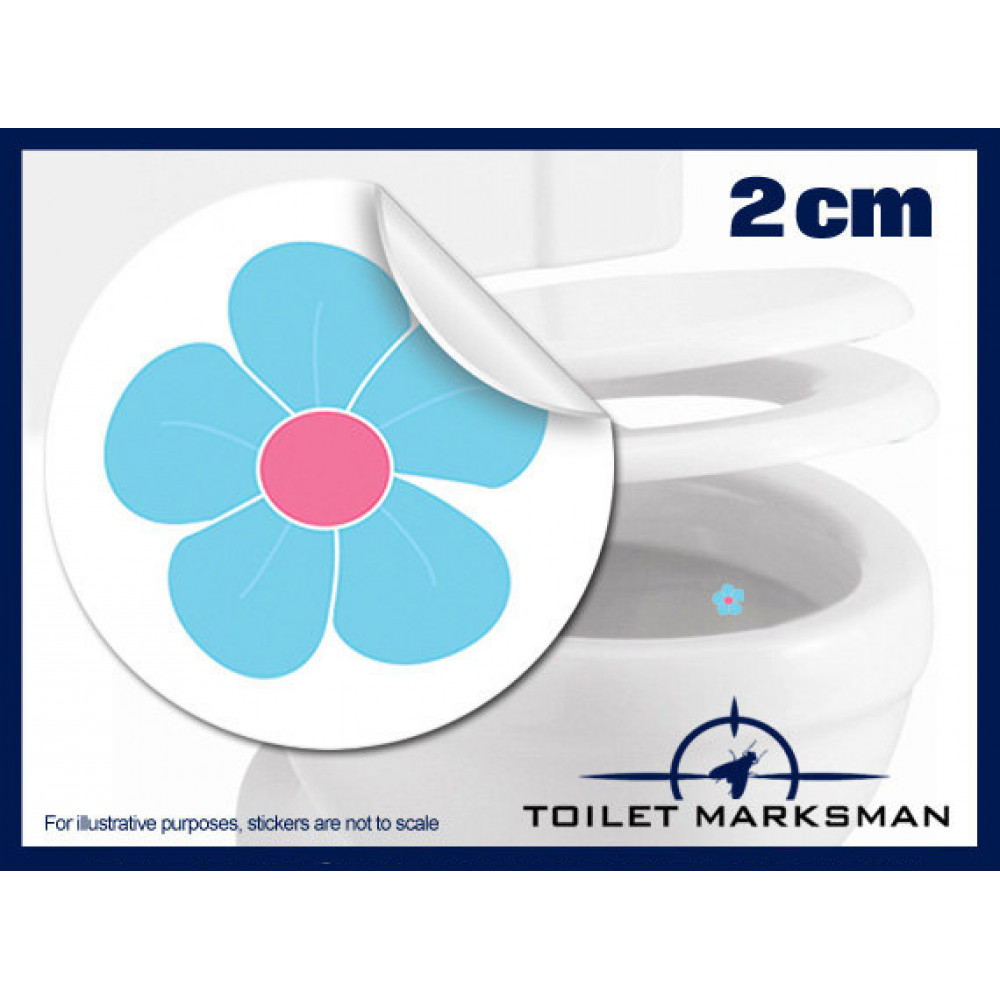 Flower Toilet Target Stickers 2cm