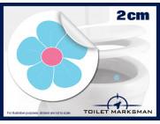 Flower Toilet Target Stickers