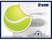 Tennis Ball Toilet Target Stickers