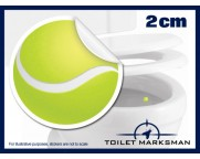 Tennis Ball Toilet Target Stickers