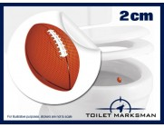 Football Toilet Target Stickers