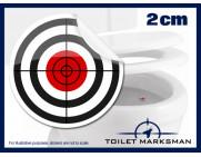 Crosshair Toilet Target Stickers