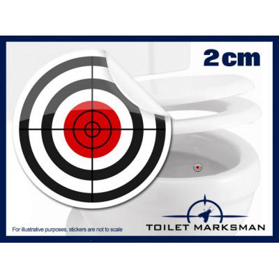 Crosshair Toilet Target Stickers 2cm