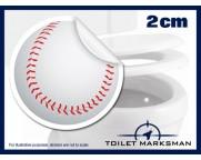 Baseball Toilet Target Stickers