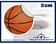 Basketball Toilet Target Stickers