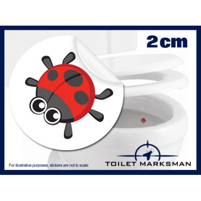 Ladybird Toilet Target Stickers 2cm